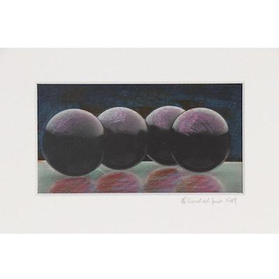 Randall Smith Embellished Abstract Digital Print, 1989