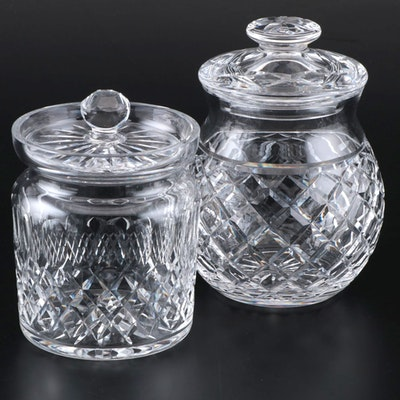 Waterford Crystal Biscuit Barrels, Late 20th Century