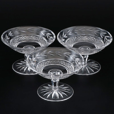 "Waterford Crystal ""Glandore"" Round Compotes, Late 20th Century"