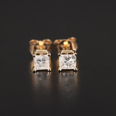 14K Yellow Gold 0.50 CTW Diamond Stud Earrings