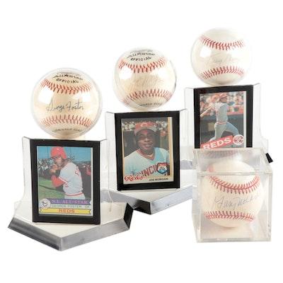 Nolan, Foster, Morgan and Perez Signed Baseballs  COA