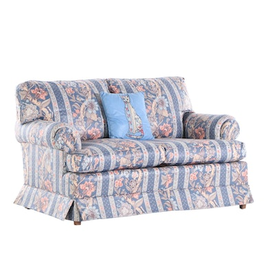 Clayton Marcus Chintz Loveseat, Mid 20th Century