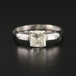 Platinum 1.10 CTW Diamond Ring