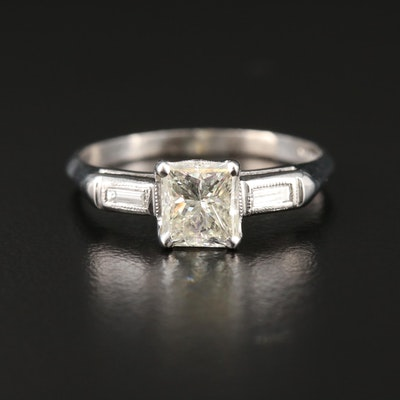 Platinum 1.10 CTW Diamond Ring