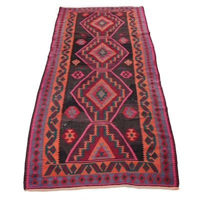 5' x 11' Hand-Knotted Persian Bakhtiari Kilim Rug, 1930s