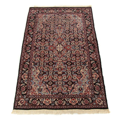 3'1 x 5'4 Hand-Knotted Sino-Persian Tabriz Silk Blend Rug, 2000s