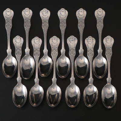 "Gorham ""Kings III"" Sterling Teaspoons, Late 19th Century"