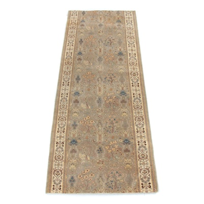 2'7 x 6'10 Hand-Knotted Pakistani Persian Tabriz Rug Runner, 2000s