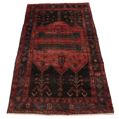 4'11 x 8'10 Hand-Knotted Northwest Persian Wide Rug Runner, 1960s