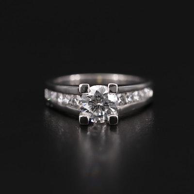 Platinum 1.61 CTW Diamond Ring