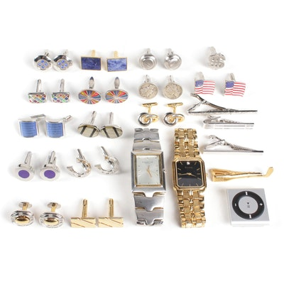 Apple iPod Shuffle Space and Collection of Men's Costume Jewelry