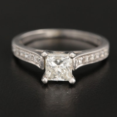 Platinum 1.17 CTW Diamond Ring