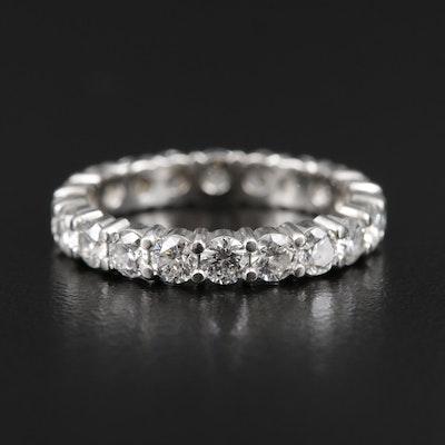 Platinum 1.45 CTW Diamond Eternity Ring