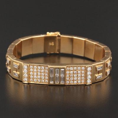 18K Yellow Gold 7.02 CTW Diamond Bracelet