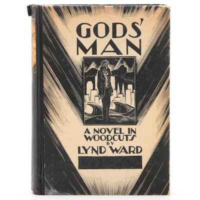 "First Edition ""Gods' Man: A Novel in Woodcuts"" by Lynd Ward, 1929"