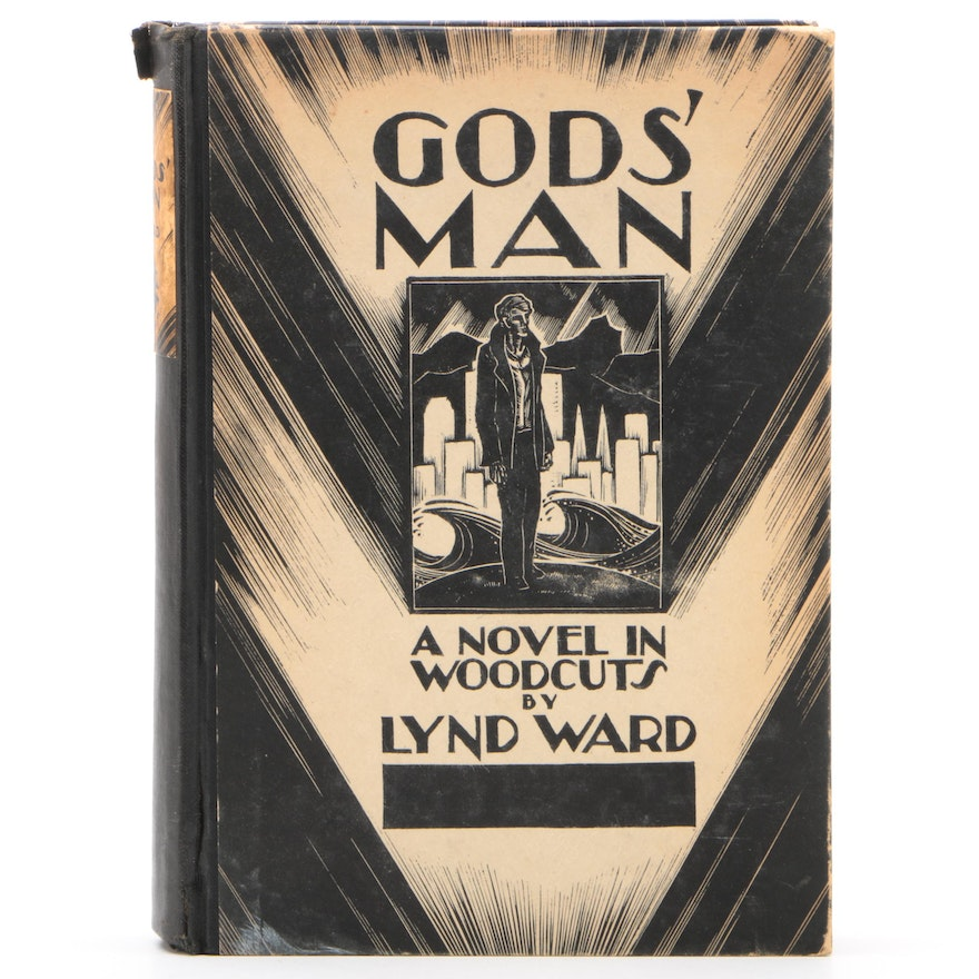 """First Edition """"Gods' Man: A Novel in Woodcuts"""" by Lynd Ward, 1929"""