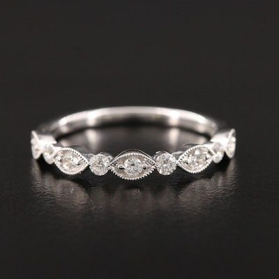 Henri Daussi 18K White Gold Diamond Ring
