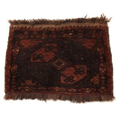 1'11 x 1'6 Hand-Knotted East Turkistani Khotan Rug, circa 1920s