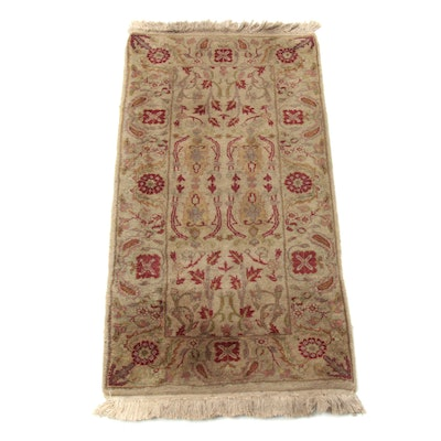 2' x 4'3 Hand-Knotted Indo Persian Tabriz Accent Rug
