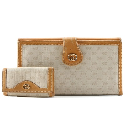 Gucci Continental Wallet and Key Case in Micro GG Supreme Canvas and Leather