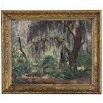 Hildegarde Hume Hamilton Forest Scene Oil Painting