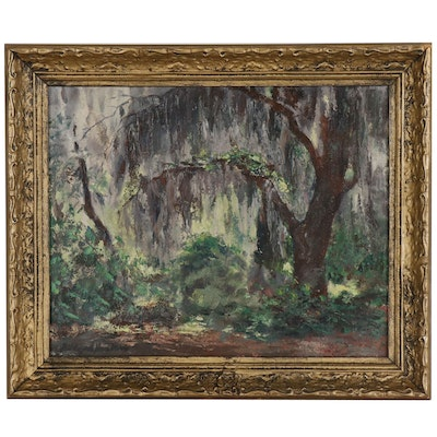 Hildegarde Hume Hamilton Forest Scene Oil Painting