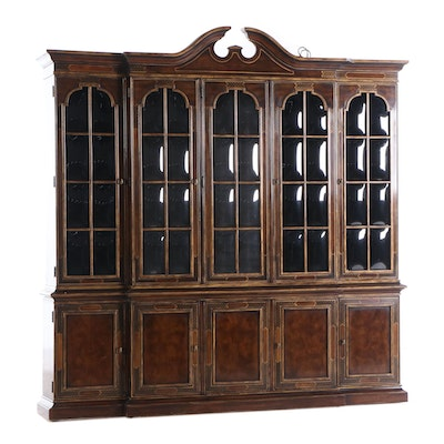Drexel-Heritage Georgian Style Breakfront China Cabinet, Late 20th Century