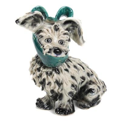 Italian Spaghetti Ware Terrier with Bandage Figurine
