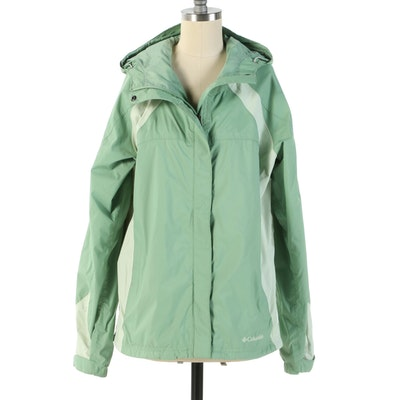 Women's Columbia Two-Tone Green Windbreaker