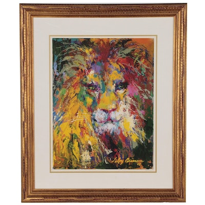 "Offset Lithograph after LeRoy Neiman ""Portrait of the Lion"""