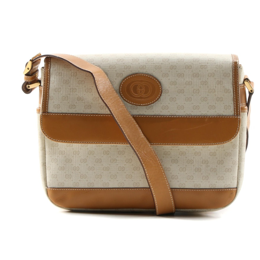 Gucci Crossbody Bag in Micro GG Supreme Canvas and Leather