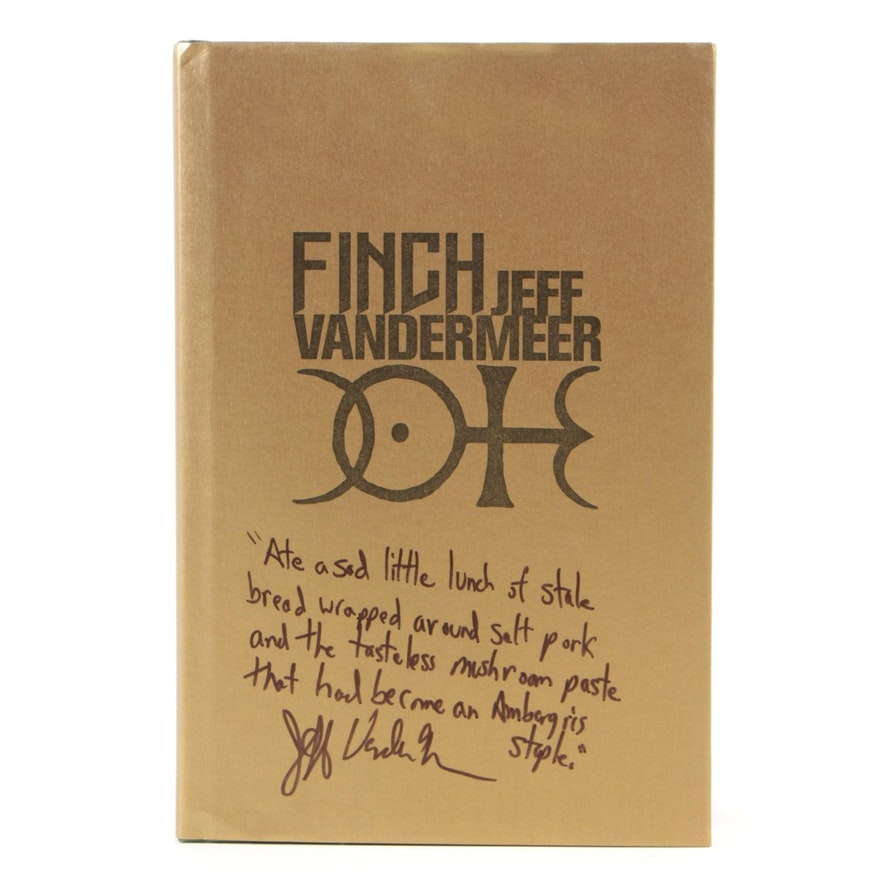 """Signed Limited First Edition """"Finch"""" by Jeff VanderMeer"""