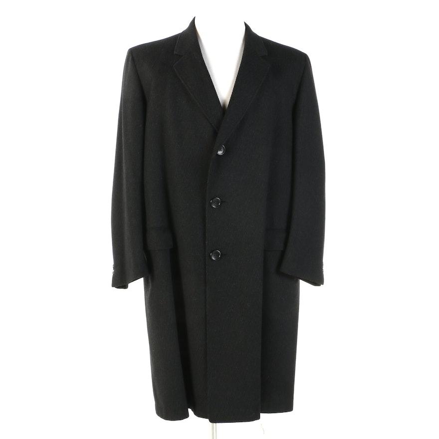 Men's Hart Schaffner & Marx Pinstripe Wool Overcoat
