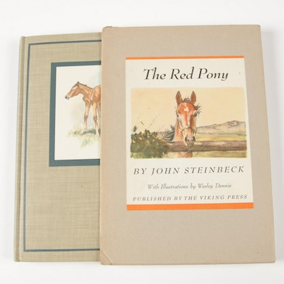 "First Illustrated Edition ""The Red Pony"" by John Steinbeck, 1945"