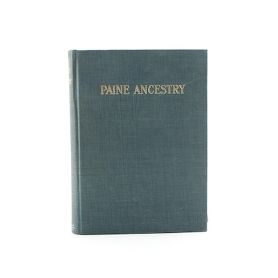 "1912 ""Paine Ancestry: The Family of Robert Treat Paine"" Compiled by Sarah Paine"