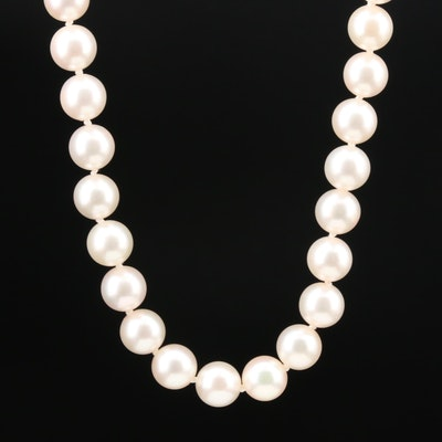 Mikimoto 18K Yellow Gold Pearl Necklace
