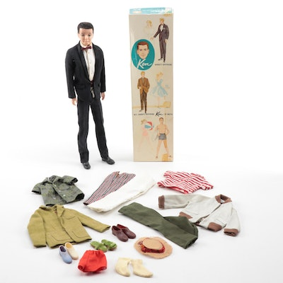 Mattel Ken Doll With Original Box and Clothing, 1961
