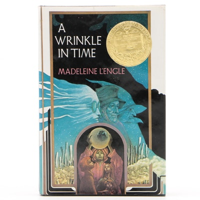 """Signed """"A Wrinkle in Time"""" by Madeleine L'Engle, Later Printing"""