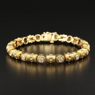 18K Yellow Gold 1.68 CTW Diamond Bracelet