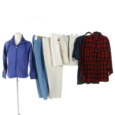 Men's Jackets and Separates Featuring Brooks Brothers, Whizzer and Columbia
