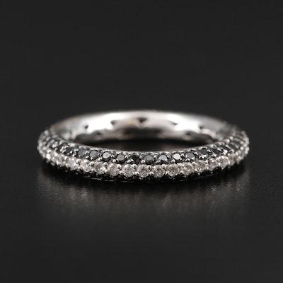 18K White Gold 1.32 CTW Diamond Eternity Ring