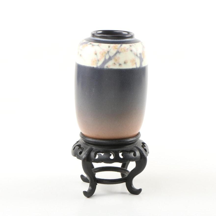 Edward Timothy Hurley Rookwood Pottery Cherry Blossom Vase, 1918