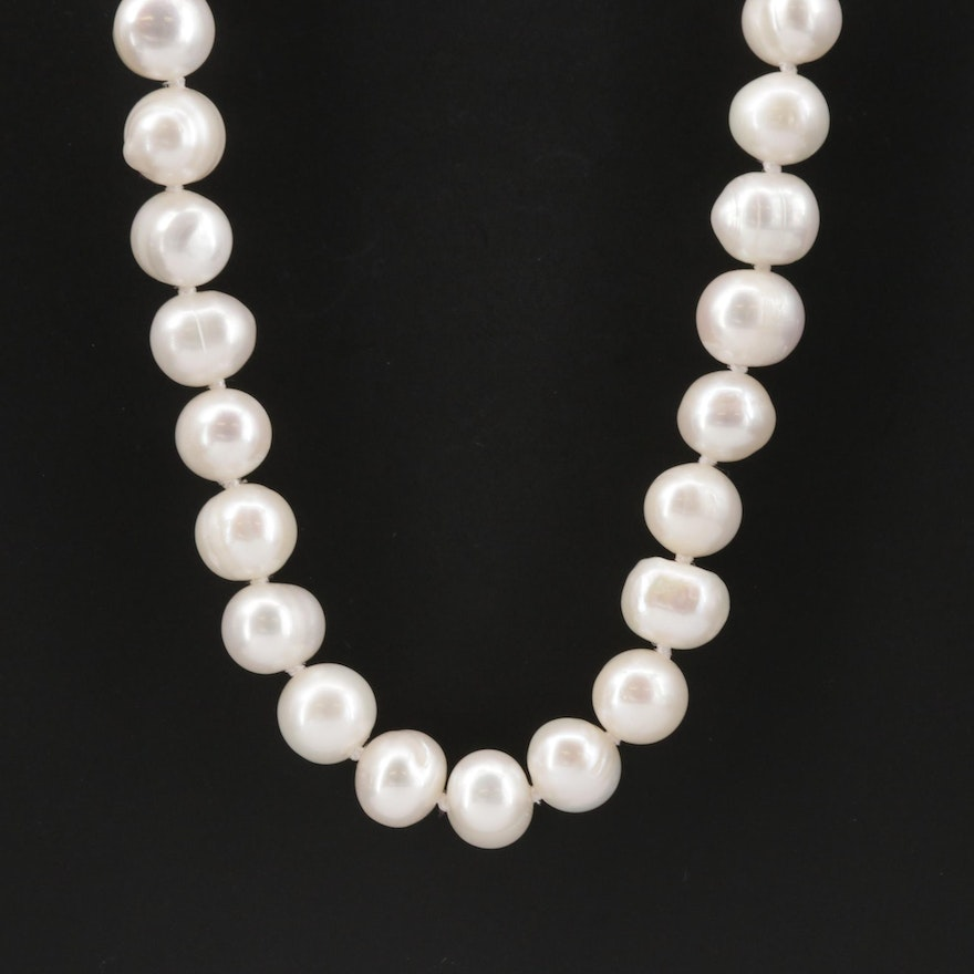 Single Strand Hand Knotted Cultured Pearl Endless Necklace