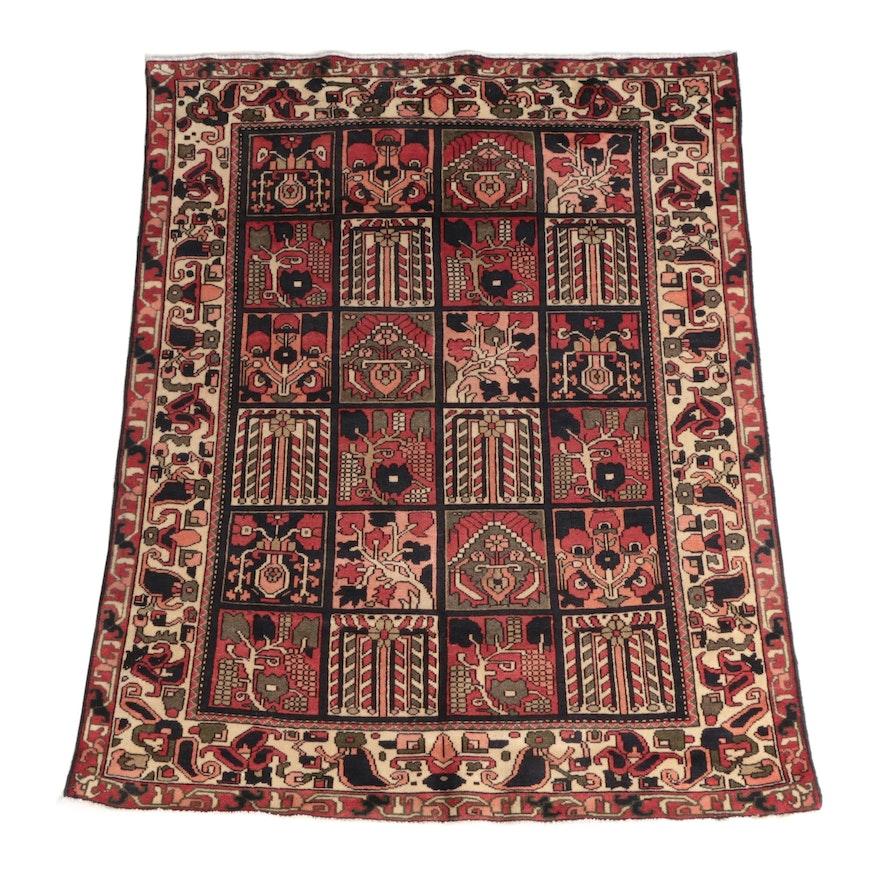 5'0 x 6' Hand-Knotted Bakhtiari Wool Area Rug