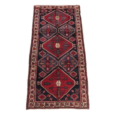 4'3 x 9'6 Hand-Knotted Caucasian Shirvan Wool Long Rug
