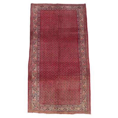 3'5 x 6'9 Hand-Knotted Persian Mir Serabend Wool Long Rug