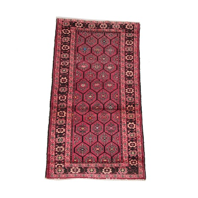 3'3 x 6'4 Hand-Knotted Persian Ardabil Wool Rug