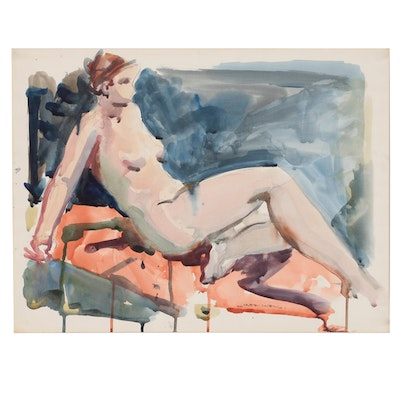 Jack Meanwell Figure Watercolor Painting