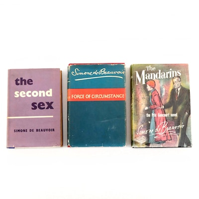 "Books by Simone de Beauvoir Including 1956 First Edition ""The Mandarins"""