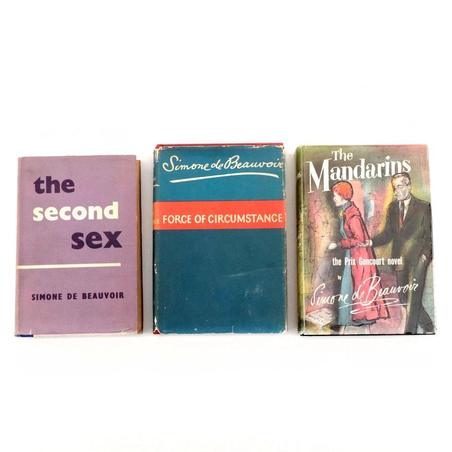 "Books by Simone de Beauvoir Including 1956 First Edition ""The Mandarins"""